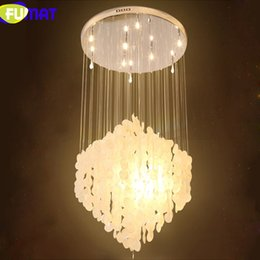 FUMAT Natural Shells Pendant Lighting Nordic Light Fixtures Simple Living Room Dining Rooom Droplights Villa Bar Lamps