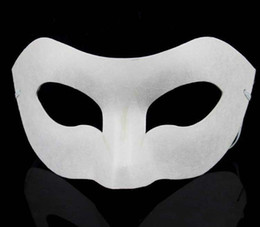 $enCountryForm.capitalKeyWord NZ - Party Zorro Mask White Hand-painted masks Half Face Mask Halloween blank paper DIY Hip-Hop mask street dancing Christmas gifts
