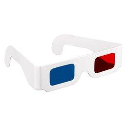 3D очки анаглиф красный/синий бумага голубой фильм DVD 3D размерный