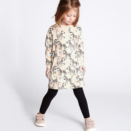 $enCountryForm.capitalKeyWord Canada - Princess Dress for Girl Stylish Long Sleeve Dress Unicorn Appliqued Cotton Baby Girl Clothing Baby Clothing Cute Kids Dress
