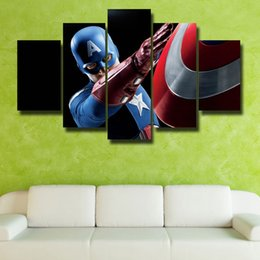 Beautiful Homes Paint Pictures NZ - Framed 5 Panels HD Picture Modern Home Wall Decor Canvas Print Painting For House Decorate Beautiful picture#073