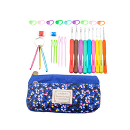 Loom bands mix online shopping - Exclusive Offer Mixed Metal Hook Crochet Template Kit Aluminum Knitting Needles For Loom Tool Band DIY Crafts with bag