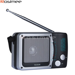 Small Speakers Radios Canada - Wholesale-TECSUN R-208 Small-sized Desktop FM   AM 2 Band Portable & Durable Radio R208 Radio Receiver High Sensitivity Radio