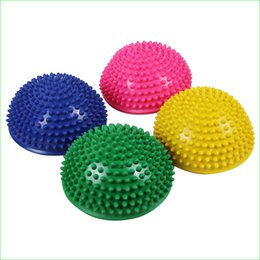 Ball For Massages Canada - Wholesale-Fitness Massage Semisphere Equipment Yoga Half Ball for Exercise Balance