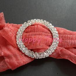 $enCountryForm.capitalKeyWord Canada - Wholesale- 30Pcs Round Diamond Napkin Ring Serviette Holder Wedding Banquet Dinner Decor Favor NR07