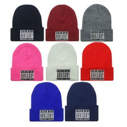 beanies hombres 2019 - Hat Ladies Spring and Autumn Solid Color Warm Men's Winter Hat Hip-Hop Knitted Wool Caps for Female Male Beanies Go
