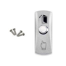 $enCountryForm.capitalKeyWord NZ - Wholesale- Free shipping high quality stainless steel door release switch emergency exit button silver keys for access control system-LH