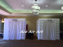 Cabin Lights Canada - custom inflatable cabin photo booth with led light or without light for wedding party event