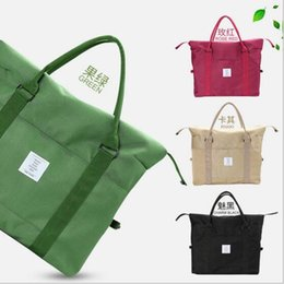 $enCountryForm.capitalKeyWord Canada - Korean Women Female Shoulder Bag Fashion Nylon Baggage Bag Folding Handbag Package Trave Bag 20 PCS LJJY200
