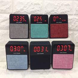 Best Quality Player Canada - High-end Quality Wireless Bluetooth Speaker T1 Music Player Outdoor Speakers, With Alarm Cock Display, The Best Sound Quality, Subwoofer