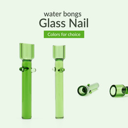 Chinese  Glass Nail for Water Bongs Smoking Pipes Nail with 4 Colors 10mm 14mm Size Hand Made manufacturers