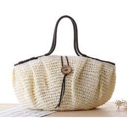 $enCountryForm.capitalKeyWord Canada - Wholesale- HIGHREAL New Beach Bag for Summer Big Straw Bags Handmade Woven Bag Designer Shopping Bags