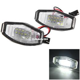 Car liCense plate honda online shopping - 2pcs V Car License Plate Light White Light LEDs Lamp SMD3528 External Lights for Honda Accord D Civic Odyssey City D
