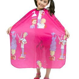 "hair cutting capes children Canada - Child Hair Cutting Waterproof Cape Barber Kids Hair Styling Cloth Professional Home Salon Hairdressing Wrap,31""x47"""