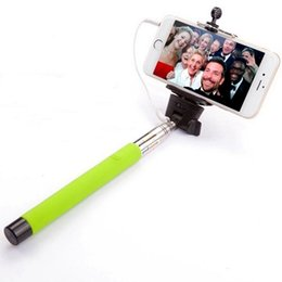 $enCountryForm.capitalKeyWord NZ - Wired Selfie Stick Portable Extendable Monopod for iPhone for Samsung Android Smartphones for Gopro Digital Cameras