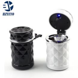 Portátil LED Car Cinzeiro de alta qualidade Universal cigarro cilindro Titular Car Acessórios, HZYEYO em Promoção