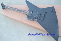 China Rare Heavy Metal MX250 James Hetfield Matte Black Diamond Plate Explorer Electric Guitar Deer Skull MOP Inlay EMG Pickups Black Hardware suppliers