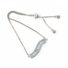 $enCountryForm.capitalKeyWord NZ - 3 Color CZ Paved Micro Jewelry Bracelet Ladder Shape Cubic Zircon Charm Chain Bracelet with Lead and Cadmium Free ICSL086