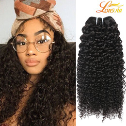 Discount black hair perm curly - Best Brazilian Curly Virgin Hair Wefts Natural Black Brazilian Kinky Curly Hair Weaves Brazilian Deep Curly Virgin Human