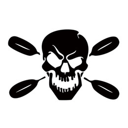 China Car Styling For Skull With Oars Paddle Personality Funny Vinyl Decal Sticker Kayak Fishing Car Truck Canoe cheap trucks rear window decals suppliers