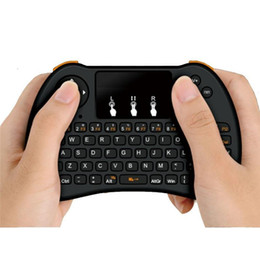 Chinese  2.4GHz Wireless H9 Fly Air Mouse Mini QWERTY Keyboard with Touch Pad Android TV Box Remote Control Gamepad Controller 20pcs UP manufacturers