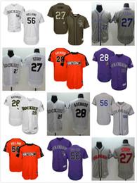 e764659d9 ... discount cool base baseball jerseys s men rockies 27 trevor story 28  nolan arenado 56 greg closeout mens colorado ...