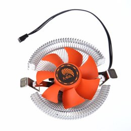 Intel Heatsink 1155 Canada - Wholesale- High Quality PC CPU Cooler Cooling Fan Heatsink for Intel LGA775 1155 AMD AM2 AM3 754 Drop Shipping