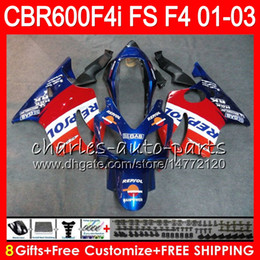Discount repsol fairings - 8Gifts 23Colors For HONDA CBR600FS FS CBR 600 F4i 01-03 28NO54 Repsol blue CBR600 F4i CBR 600F4i CBR600F4i 2001 2002 200
