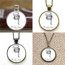China 10pcs Alice in Wonderland It's Only A Dream Mad Hatter Necklace keyring bookmark cufflink earring bracelet supplier wonderland bracelet suppliers