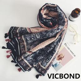 Scarfs Cotton Australia - New autumn winter cotton Bohemia hit color woman scarf national sunscreen warm shawl pashmina fashion Muslim hijab 10pcs lot