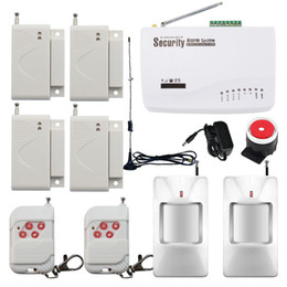 gsm door alarm NZ - Dual Antenna ! Wireless Home Security Burglar GSM Alarm System Auto Dialer SMS SIM 4x Door Window Sensor 2x Wireless PIR Motion Detector