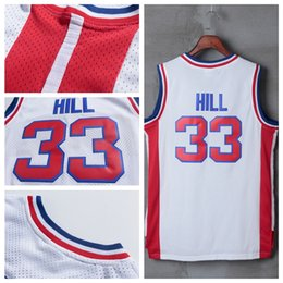 7ca897f8270 ... wholesale nba jersey new arrival 33 grant hill mens jersey throwback  white high quality 100 stitched