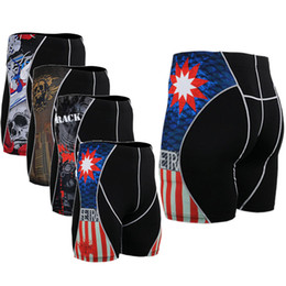 $enCountryForm.capitalKeyWord NZ - Wholesale-2016 Men's Triathlon Print Shorts Sweat Quick Dry Stretch Compression Fit Base Layers MMA