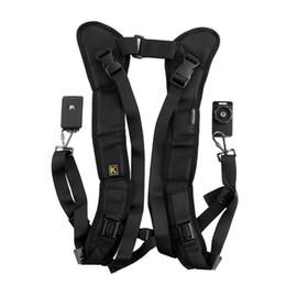 China DHL FREE Black Camera Double Shoulder belt Sling Backpack straps Quick Rapid Strap for DSLR Digital SLR Cameras suppliers