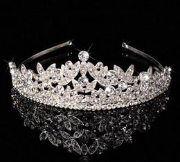 $enCountryForm.capitalKeyWord Australia - Luxury Bridal Crown Cheap but High Quality Sparkle Beaded Crystals Roayal Wedding Crowns Crystal Veil Headband Hair Accessories Party Tiaras