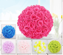 Bulk silk artificial roses canada best selling bulk silk 15cm rose kissing balls for wedding silk flower ball decorative artificial flowers multi color options pomander balls kb 001 mightylinksfo
