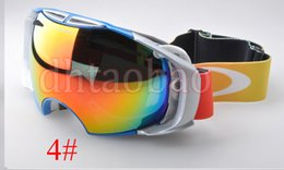 mirrored ski goggles Canada - Moq=1 Pcs High Quality Unisex Ski Goggles Anti-Fog UV400 Snowboard Glasses Men&Women Skiing Snow Goggles 6 Colors Snow mirror Free Shipping
