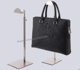Bag stand display rack online shopping - Fashion high quality stainess steel handbag display stand wig purse bag display holder rack shelf adjustable hanger hooks