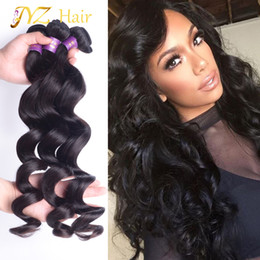$enCountryForm.capitalKeyWord Canada - JYZ Peruvian Virgin Hair 100% Human Hair Natural Color Black Malaysian Loose Wave Cheap Brazilian Hair style 3 Pcs Lot bundles deals