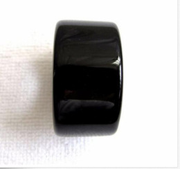 $enCountryForm.capitalKeyWord Canada - natural-black-agate-jade-hand-carved-man-thumb-ring-size-13-5