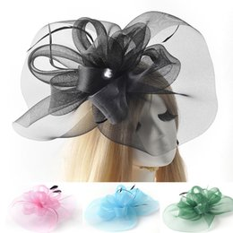 Hair Netting Wedding Canada - Trendy Fashion wedding party Hats Hot Sale Fancy dress Accessories Net Veil Lady Bridal Hair clip Fascinator Handmade 5 colors for choose