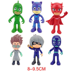 $enCountryForm.capitalKeyWord Canada - 6Pcs Set Pj Cartoon Mask Characters Catboy Owlette Gekko Cloak Action Figure Toys Boy Birthday Gift Plastic Dolls