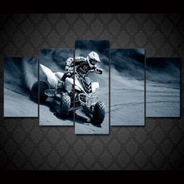 motorcycle oil paint 2019 - 5 Pcs Set Framed HD Printed Motorcycle Racing Sports Group Painting room decor print poster picture canvas Free shipping