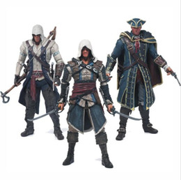 China Assassins Creed 4 Black Flag Connor Haytham Kenway Edward Kenway PVC Action Figure Toys hidden blade Free Shipping cheap hide toys suppliers