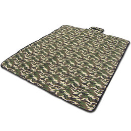 Chinese  Wholesale-Portable Waterproof Outdoor Camouflage Picnic Barbecue Mat Pad Beach Camping Equipment Baby Climb Blanket Family 180*150cm manufacturers