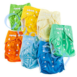 $enCountryForm.capitalKeyWord UK - Free Shipping Hot Sales Plain Color Cloth Diapers Nappies Covers 5 +5 pcs Insert One Size Reusable super soft tensile strength permeability