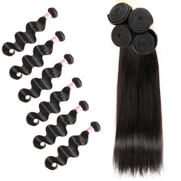 Cheap straight weft remy hair online shopping - 4 Bundles Virgin Human Hair Weaves High Quality Cheap Items Health and Beauty Body Wave and Straight Can Be Permed