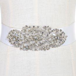 Опт Модные свадебные пояса и ремни свадебное платье пояс для свадьбы бисером горный хрусталь Кристалл свадебный пояс дешевые CPA783