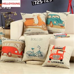 patterned car seat cushions Canada - BZ049 Luxury Cushion Cover Pillow Case Home Textiles supplies Lumbar Pillow Car pattern decorative throw pillows chair seat