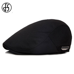 beret breathable 2019 - Wholesale-FS Unisex High Quality Beret Cap Summer Sun Breathable Hat For Men Women Fashion Flat Caps Black Cabbie Hats 2